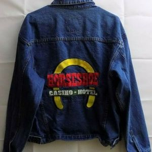 Denim Trucker Jacket Mens Small Horseshoe jacket